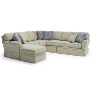 Annabel Sock Arm Sectional, best home furnishings, custom sectional, customizable sectional, chaise sofa, family room furniture, modern sectional, modular sectional