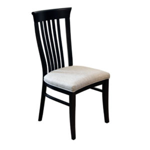 solid wood frame canadian made athena dining chair with custom fabric seat