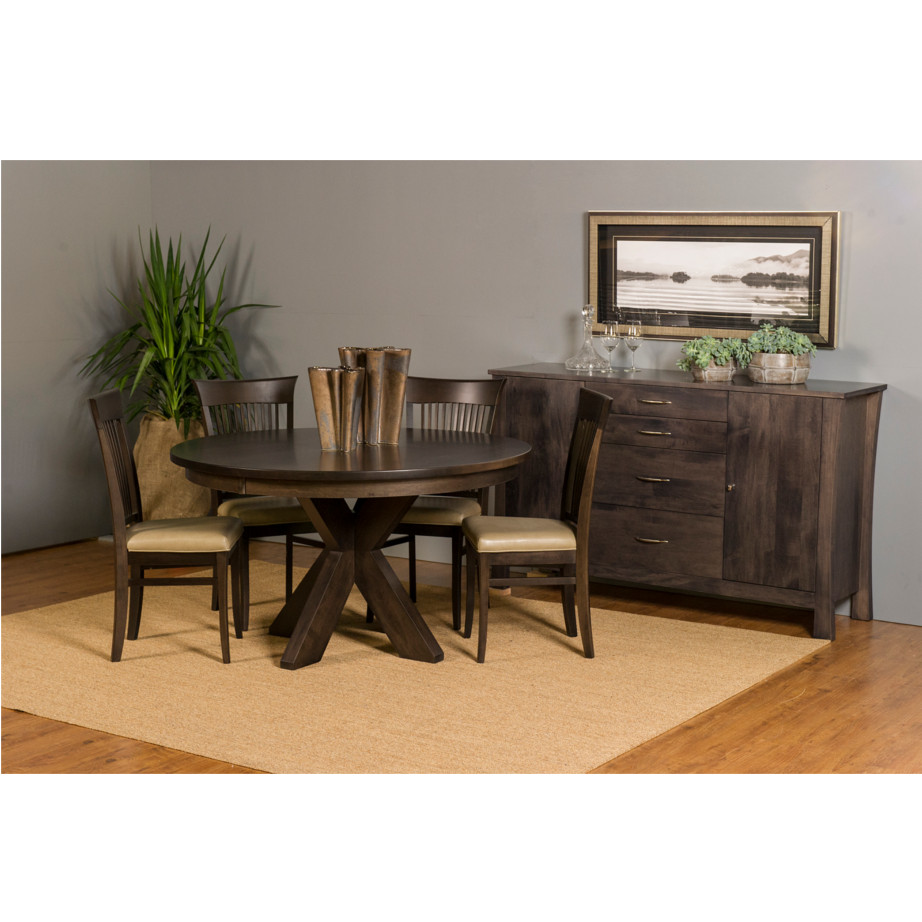 Austin Round Table Home Envy Furnishings Solid Wood
