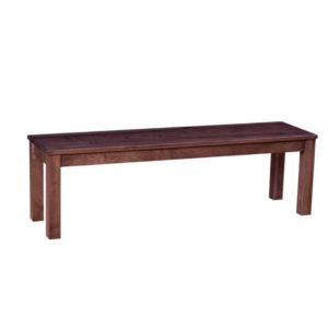 solid wood simple block leg bench
