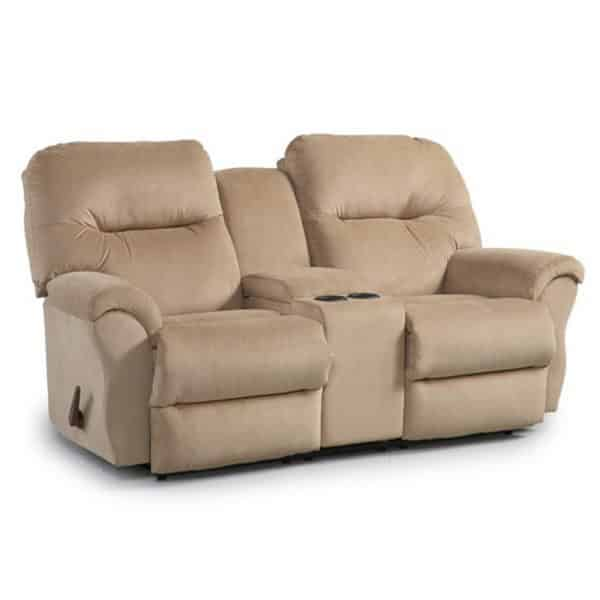 Bodie Recliner Sofa in Love Seat size with center console