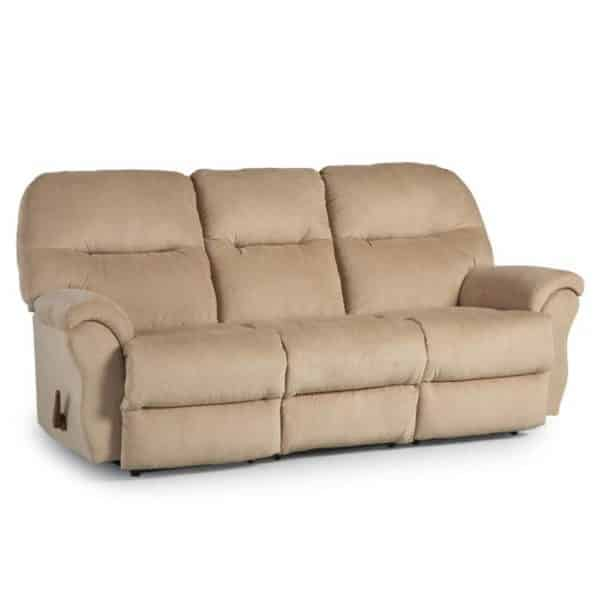 bodie reclining sofa with power recline in 3 seat sofa and soft durable fabric
