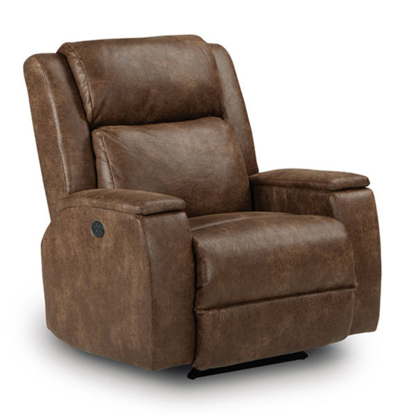 Living Room, Recliners, colton recliner, contemporary, custom chair, modern, motion, power, power tilting headrest, recliner, rocker, wide arm, North American Made, Modern Design, rocker base, power tilting head rest, fabric, elements leather, Colton