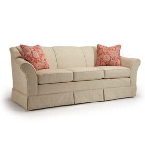 Emeline Flared Arm Sofa, best home furnishings, custom sofa, customizable sofa, skirt sofa, family room furniture, traditional sofa