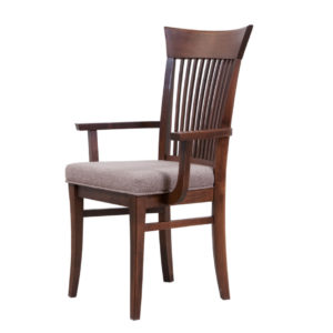 canadian made essex dining arm chair from head of table