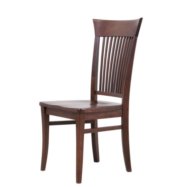 moder style essex dining chair in solid dark finish wood