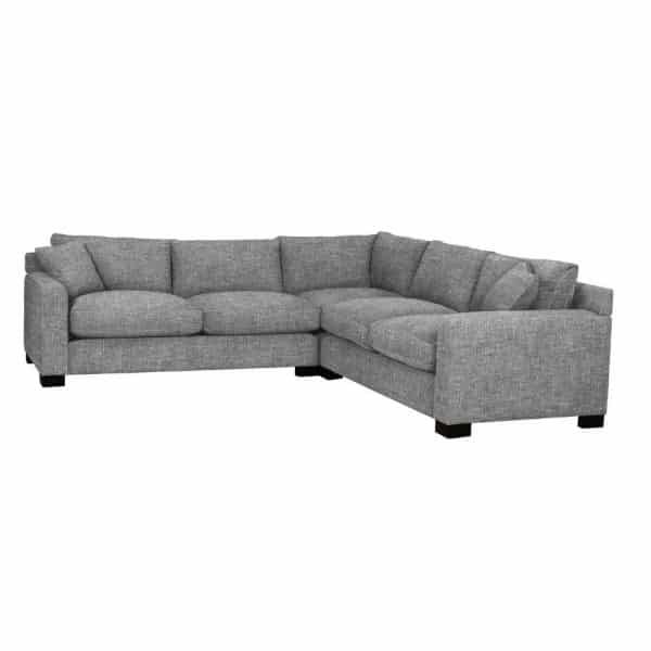 comfy feather filled harry sectional by van gogh designs