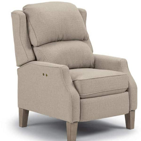 best home furnishings pauley recliner with wing back design
