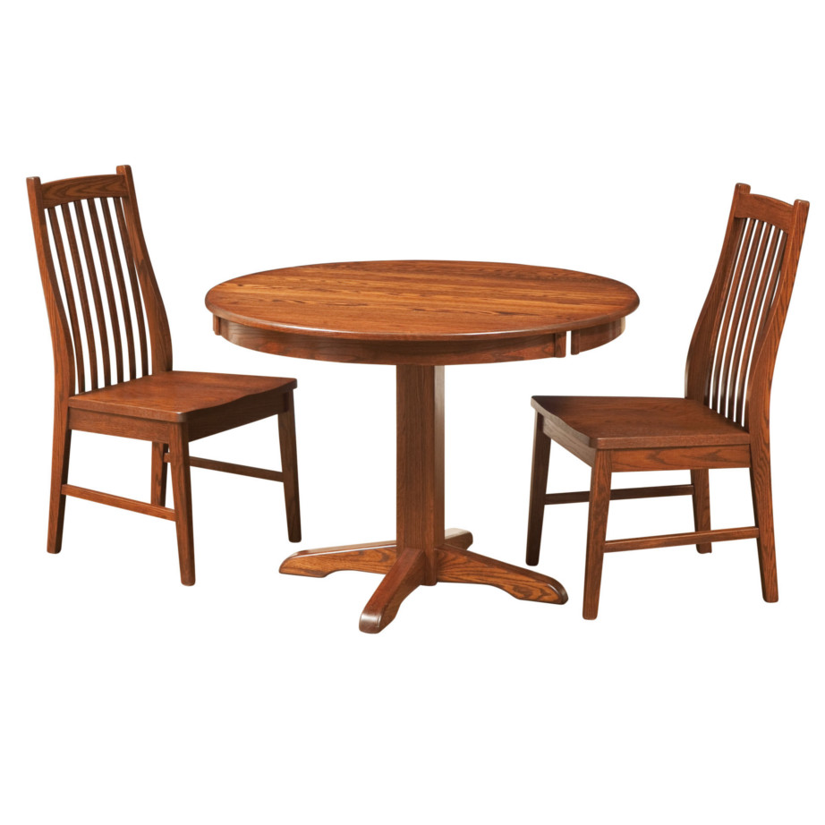 Drop leaf table home envy furnishings solid wood for Round drop leaf dining table