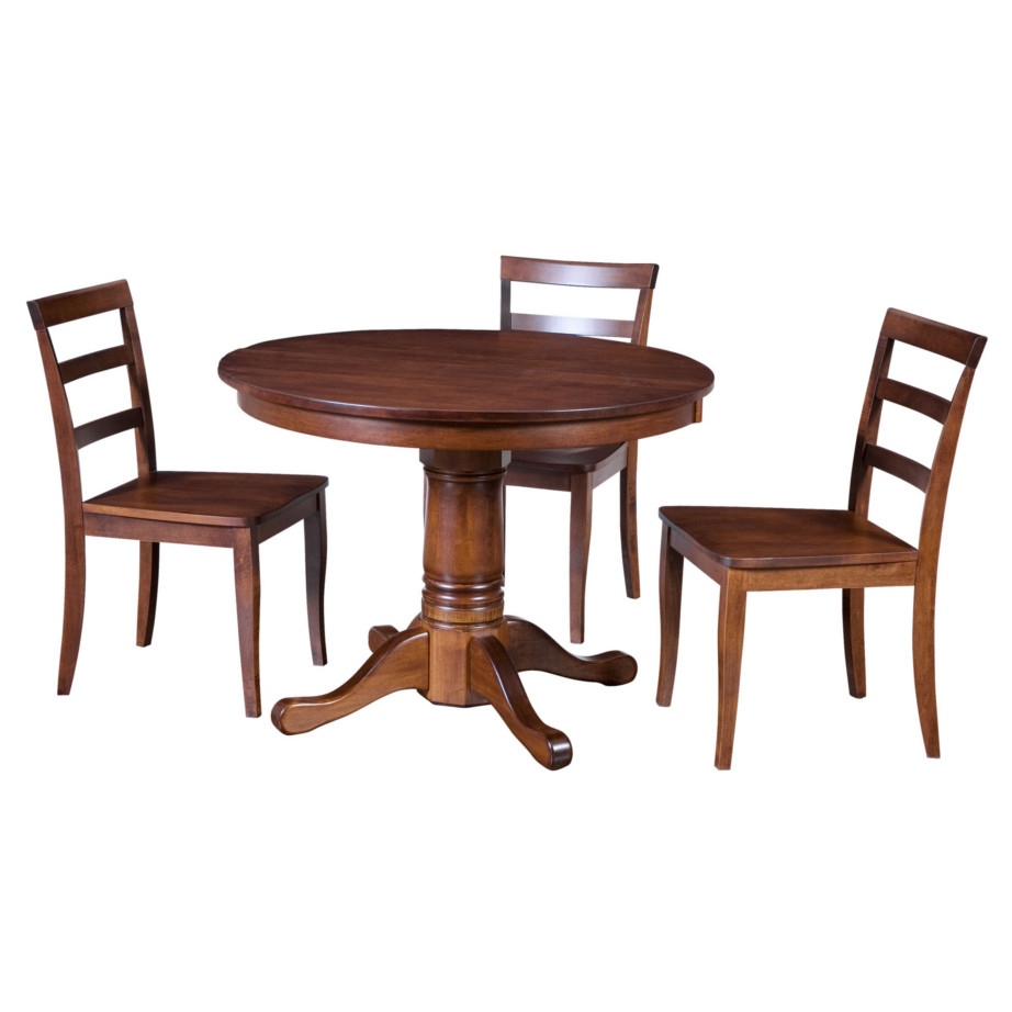 Traditional Round Table Home Envy Furnishings Solid
