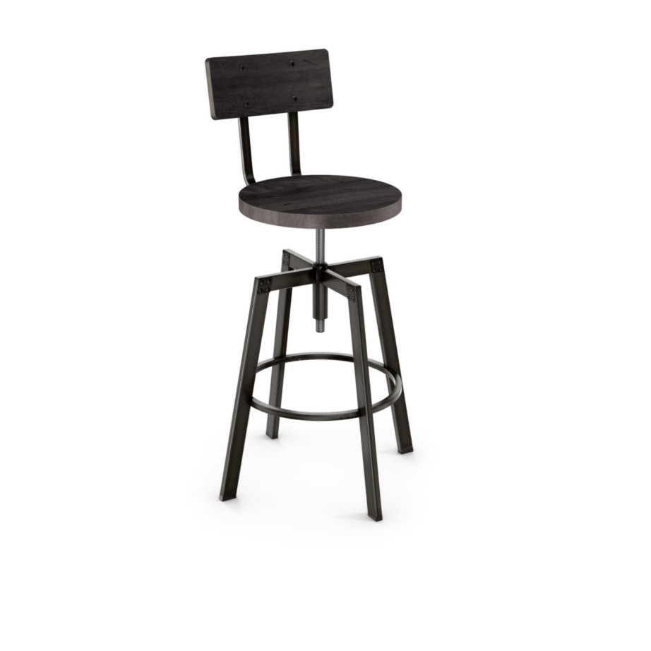 stool, bar height stool, bar height, counter height, counter height stool, custom furniture, made in canada, canadian made, solid wood, kitchen, dining room, kitchen furniture, dining room furniture, metal, custom, customizable, swivel stool