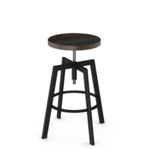 architect backless stool, bar height stool, bar height, counter height, counter height stool, custom furniture, made in canada, canadian made, solid wood, kitchen, dining room, kitchen furniture, dining room furniture, metal, custom, customizable, swivel stool, backless, backless, stool