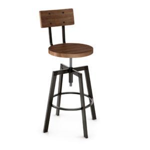 architect stool, bar height stool, bar height, counter height, counter height stool, custom furniture, made in canada, canadian made, solid wood, kitchen, dining room, kitchen furniture, dining room furniture, metal, custom, customizable, swivel stool