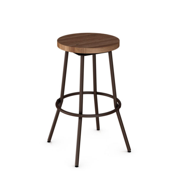 bluffton stool, bar height stool, bar height, counter height, counter height stool, custom furniture, made in canada, canadian made, solid wood, kitchen, dining room, kitchen furniture, dining room furniture, metal, custom, customizable, swivel stool, backless, backless stool