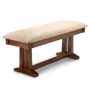 brooklyn bench, Dining room, dining room furniture, solid wood, solid oak, solid maple, custom, custom furniture, storage, storage ideas, dining bench, made in canada, Canadian made, solid cherry, cherry, maple, oak, heritage maple