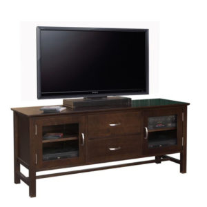 brooklyn 60 tv console, living room, living room furniture, console, tv console, tv, hdtv, storage, storage ideas, solid wood, made in Canada, Canadian made, maple, oak, cherry, solid maple, heritage maple, solid oak, solid cherry, rustic, rustic design, drawer, drawers, shelves, storage solutions, custom, custom furniture, entertainment