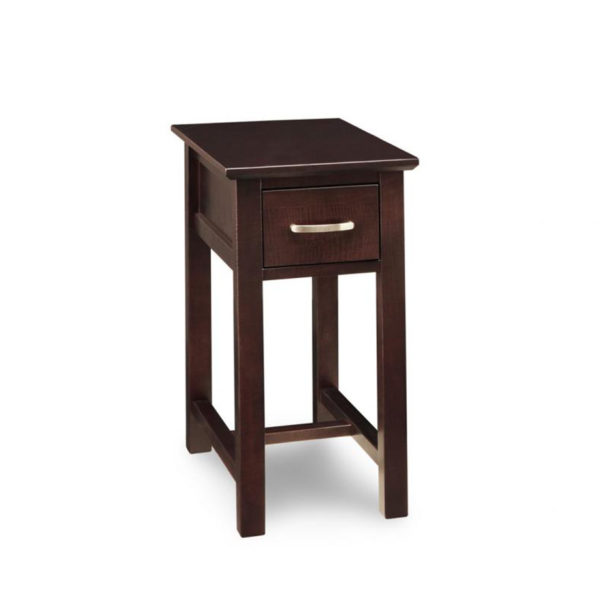 solid wood handstone modern style brooklyn small chairside table