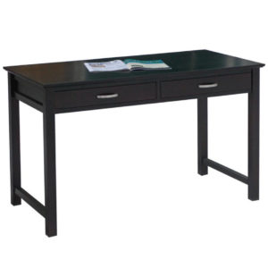 solid wood modern brooklyn writing desk with drawers