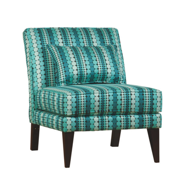 cole armless chair, Upholstered, chair, made in canada, canadian made, upholstery, custom, custom furniture, living room furniture, custom order, choose your fabric, sectional, custom sectional, accents, accent chair, accent fabrics