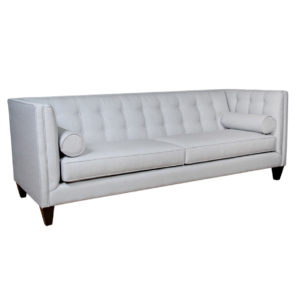 dominic sofa, upholstered, sofa, loveseat, chair, made in canada, canadian made, upholstery, custom, custom furniture, living room furniture, custom order, choose your fabric