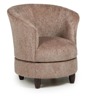best home furnishings, accent chair, sitting chair, upholstered, custom chair, wood frame, dysis swivel chair, round chair, tub chair,