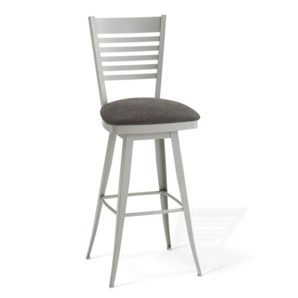 metal frame edwin swivel stool by amisco
