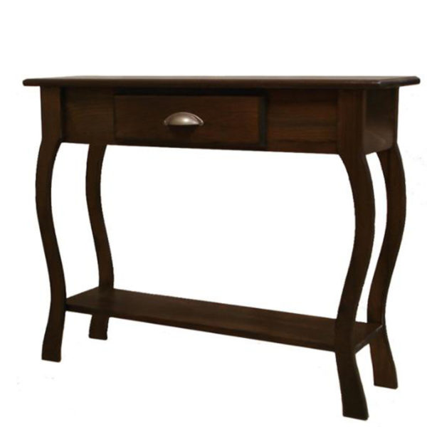 solid rustic wood foyer table with drawer for hallway