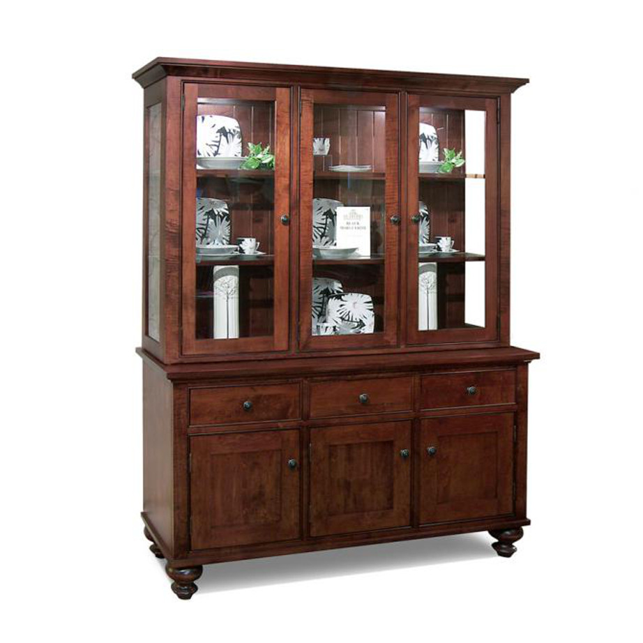 Home Envy Furnishings Solid: Georgetown 3 Door Buffet And Hutch