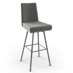 linea swivel stool in custom fabric by amsico