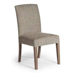 solid wood frame myer parsons chair in custom option fabric