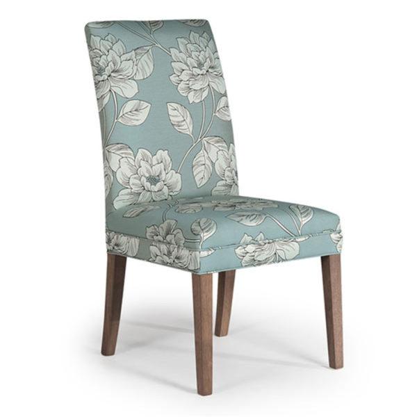 custom fabric odell parsons chair in custom upholstery
