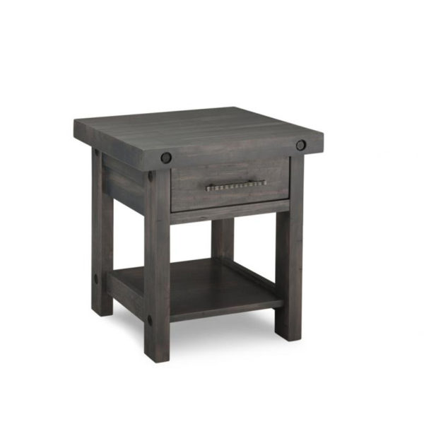 rustic solid wood canadian made rafters end table