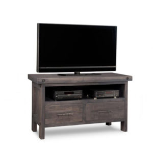 rafters 48 tv console, living room, living room furniture, console, tv console, tv, hdtv, storage, storage ideas, solid wood, made in Canada, Canadian made, maple, oak, cherry, solid maple, heritage maple, solid oak, solid cherry, rustic, rustic design, drawer, drawers, shelves, storage solutions, custom, custom furniture, entertainment