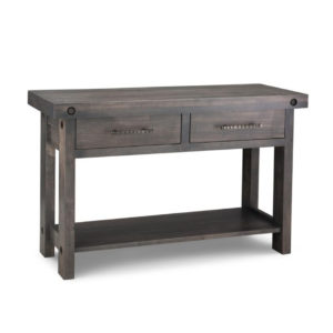 crafted in canada handstone solid wod rafters sofa table with thick top