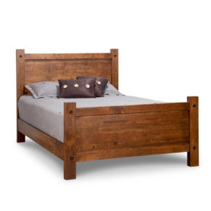hand crafted in canada rafters solid wood rustic panel bed