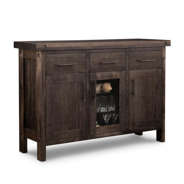 rafters display sideboard, Dining room, dining room furniture, occasional, occasional furniture, solid wood, solid oak, solid maple, custom, custom furniture, storage, storage ideas, dining cabinet, sideboard, made in canada, Canadian made, solid cherry, cherry, maple, oak, heritage maple