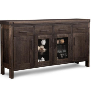 rafters large display sideboard, Dining room, dining room furniture, occasional, occasional furniture, solid wood, solid oak, solid maple, custom, custom furniture, storage, storage ideas, dining cabinet, sideboard, made in canada, Canadian made, solid cherry, cherry, maple, oak, heritage maple