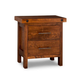 rafters night stand, Heritage maple, solid maple, solid wood, solid oak, end table, occasional furniture, rustic details, storage, drawer, organization, custom furniture, made in Canada, Canadian made, rustic furniture, chairside table, living room, living room furniture