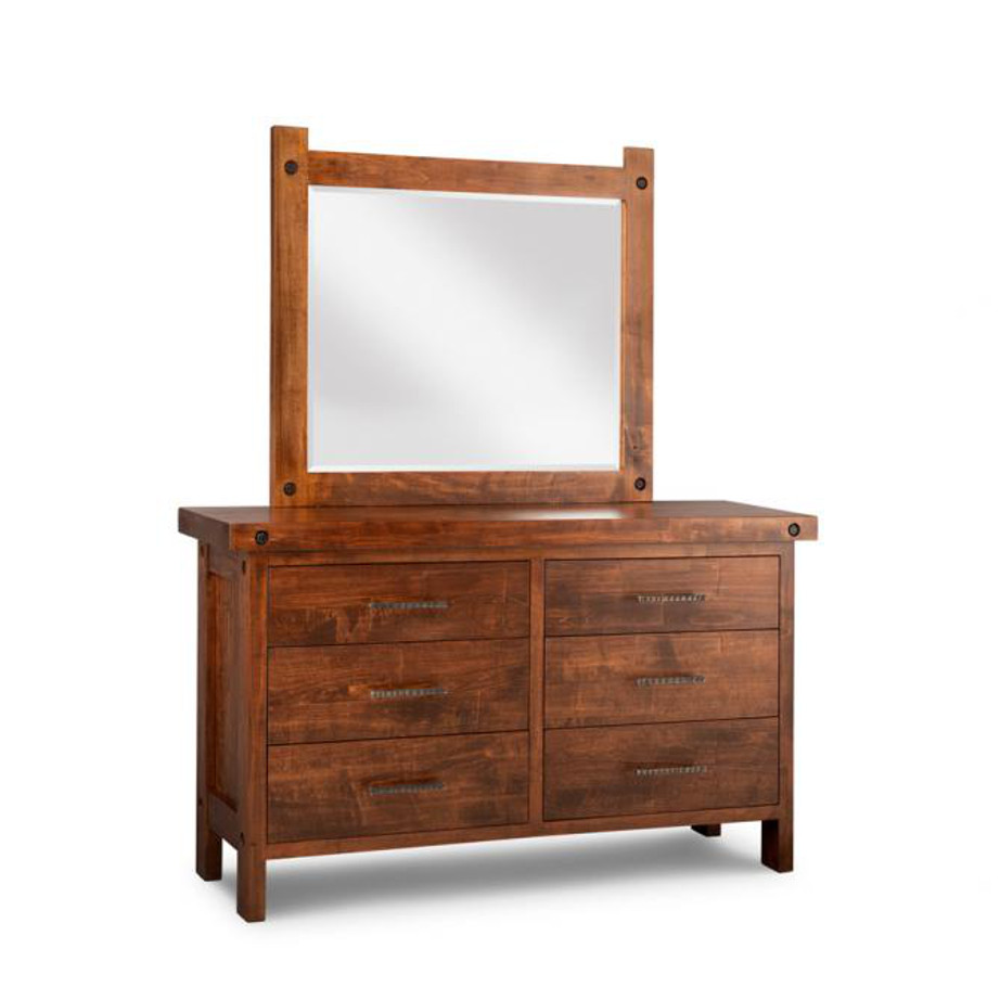 Heritage maple, solid maple, solid wood, solid oak, end table, mirror, occasional furniture, rustic details, storage, drawer, organization, custom furniture, made in Canada, Canadian made, rustic furniture, chairside table, living room, living room furniture, dresser, bedroom furniture, storage, storage ideas, clothing