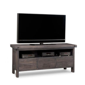 rafters 62 tv console, living room, living room furniture, console, tv console, tv, hdtv, storage, storage ideas, solid wood, made in Canada, Canadian made, maple, oak, cherry, solid maple, heritage maple, solid oak, solid cherry, rustic, rustic design, drawer, drawers, shelves, storage solutions, custom, custom furniture, entertainment
