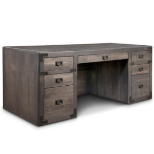 saratoga executive desk, Solid wood, made in Canada, solid maple, solid oak, heritage maple, custom furniture, office furniture, Canadian made, desk, rustic, home office, organize, organization, organization ideas, rustic furniture, drawers, storage, storage ideas, study, executive desk