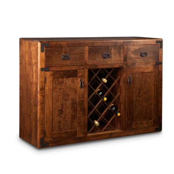 Saratoga Wine Sideboard, Dining room, dining room furniture, occasional, occasional furniture, solid wood, solid oak, solid maple, custom, custom furniture, storage, storage ideas, dining cabinet, sideboard, made in canada, Canadian made, solid cherry, cherry, maple, oak, heritage maple, wine, wine server