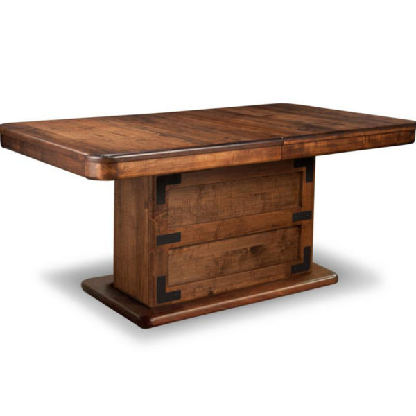 Saratoga Trunk Table, Dining room, dining room furniture, solid wood, solid oak, solid maple, custom, custom furniture, dining table, sideboard, dining table, extendable table, rustic, rustic design, solid cherry, maple, heritage maple, oak, cherry,
