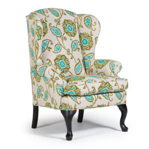 sylvia wing chair, Upholstered, chair, upholstery, custom, custom furniture, living room furniture, custom order, choose your fabric, sectional, custom sectional, accents, accent chair, accent fabrics, queen anne chair, wing back chair, arm chair