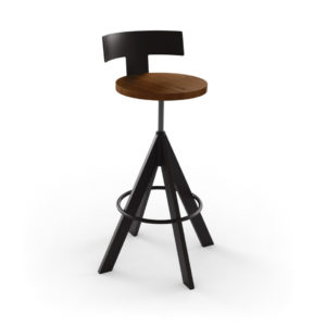 uplift swivel stool, bar height stool, bar height, counter height, counter height stool, custom furniture, made in canada, canadian made, solid wood, kitchen, dining room, kitchen furniture, dining room furniture, metal, custom, customizable, swivel stool