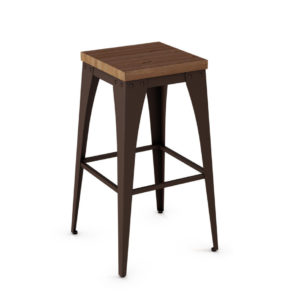 upright stool, bar height stool, bar height, counter height, counter height stool, custom furniture, made in canada, canadian made, solid wood, kitchen, dining room, kitchen furniture, dining room furniture, metal, custom, customizable, backless stool, backless