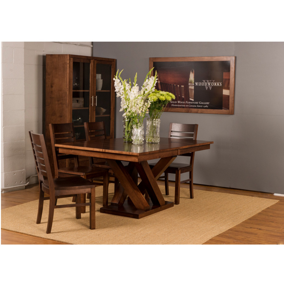 austin trestle table home envy furnishings solid wood 17378 | austin room