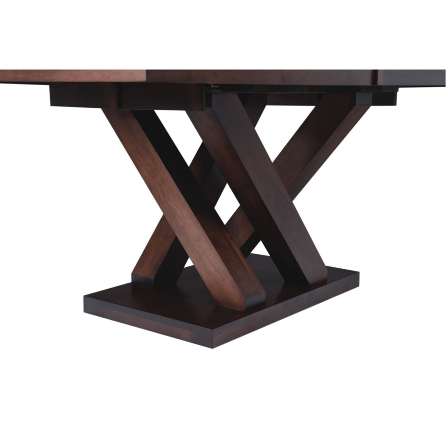 austin trestle table, Dining room, dining room furniture, solid wood, solid oak, solid maple, custom, custom furniture, dining table, made in Canada, Canadian made