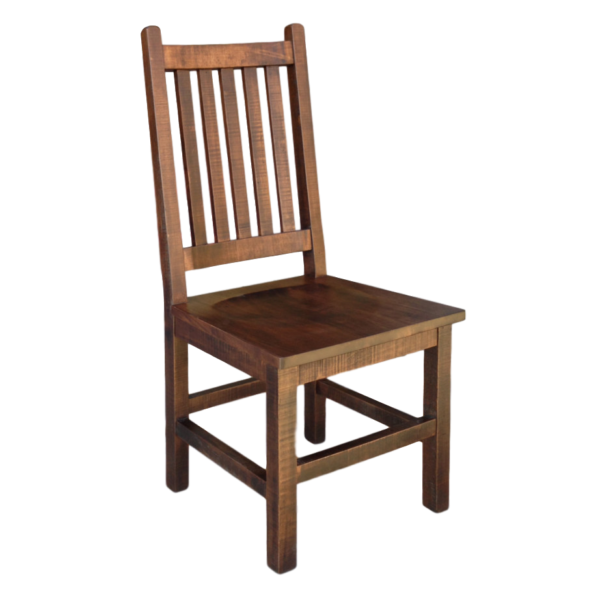 solid wood beam dining chair with slat back design