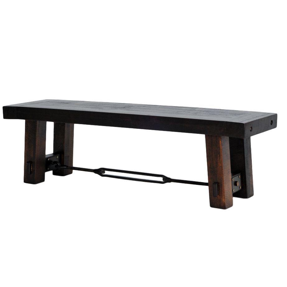benchmark bench, Dining room, solid wood, maple, rustic maple, made in Canada, custom, custom furniture, bench, dining bench, benchmark